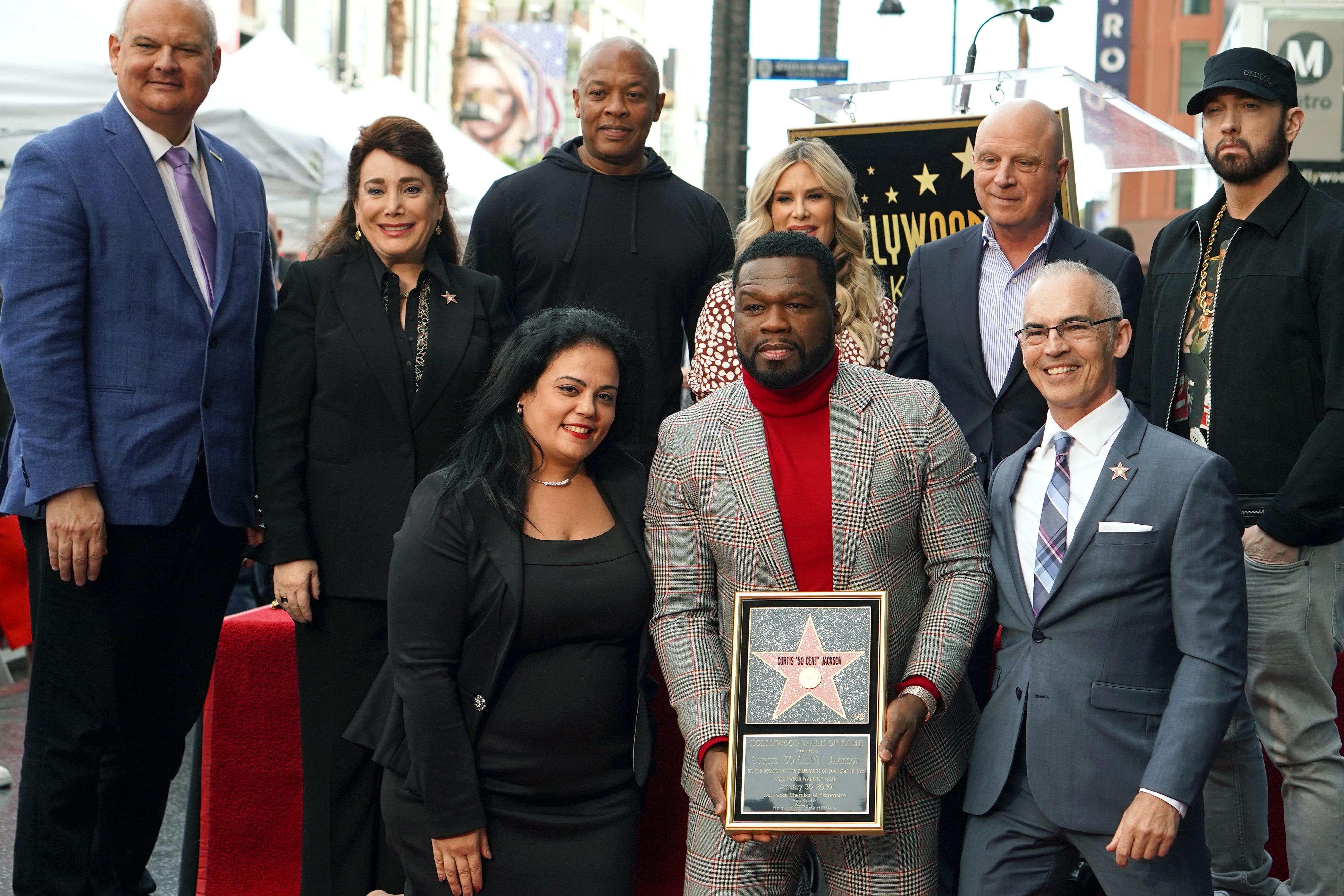 50 Cent Walk of Fame Ceremony shot