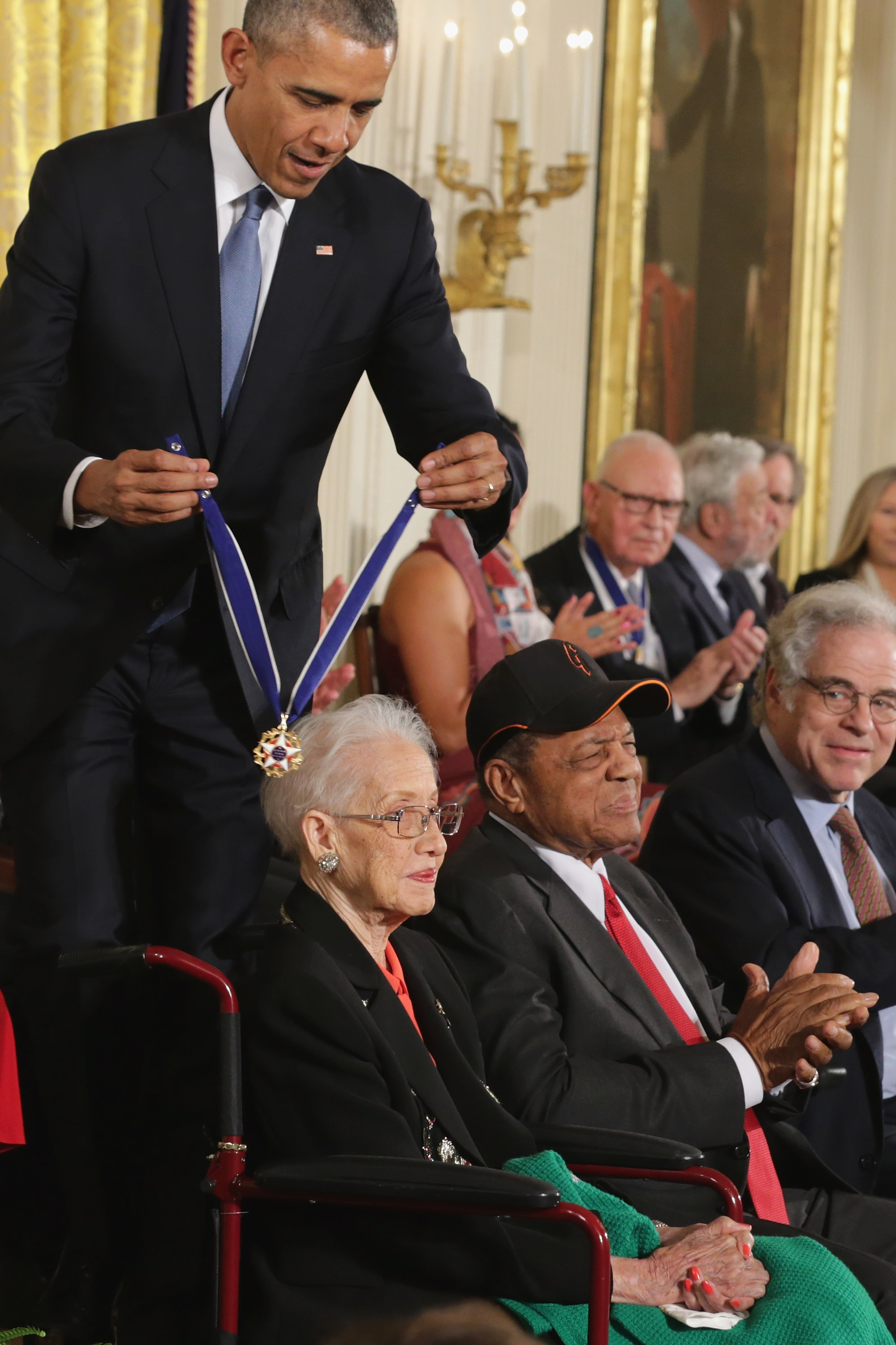 Barack Obama and Katherine Johnson