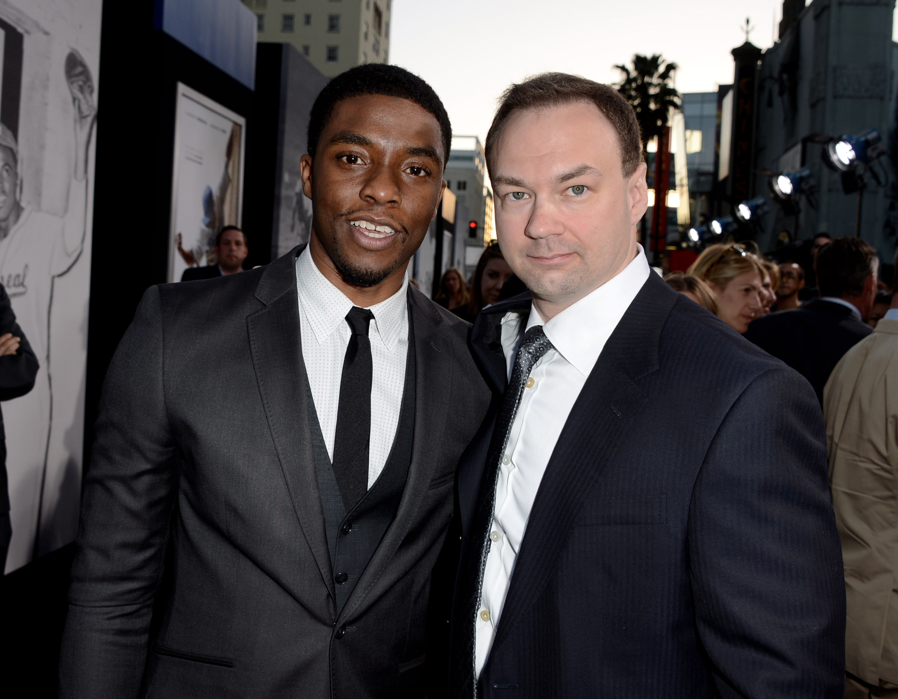 Chadwick Boseman and Thomas Tull