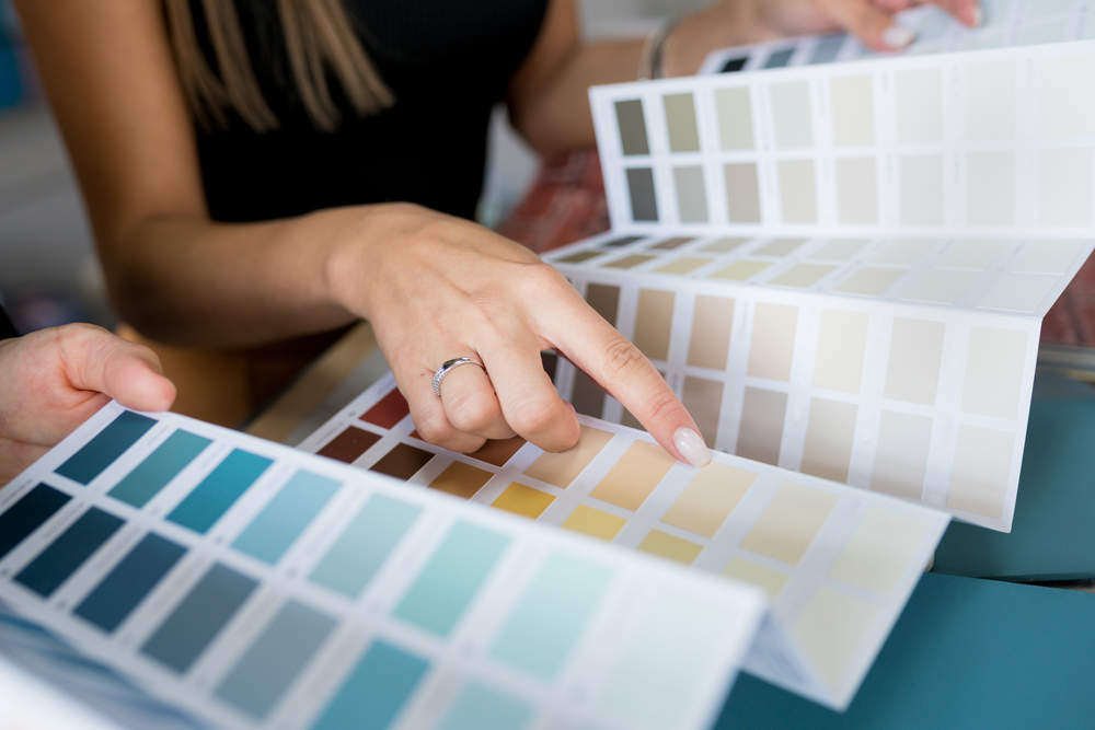 couple picking out home paint colors