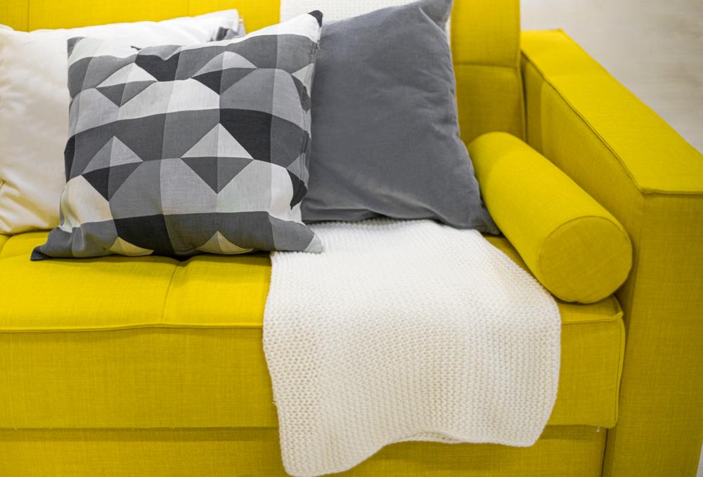 pantone colors of 2021 in living room setting
