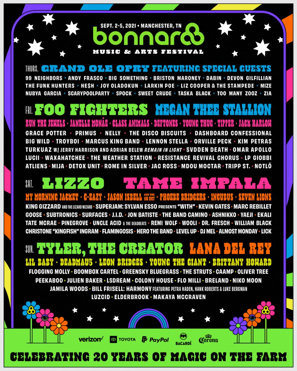 Bonnaroo 2021 poster