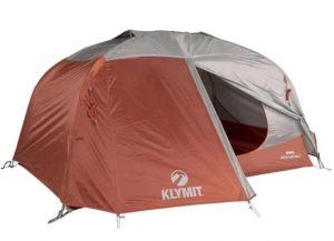 brown and white 2 person camping tent