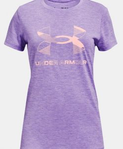girls pink Under Armour tshirts