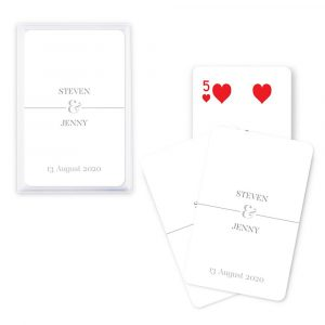 playing cards for weddings