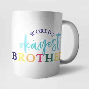 worlds okayest brother mug from iWoot