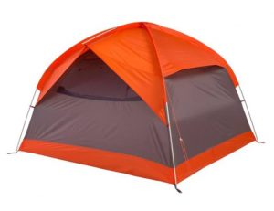 orange and gray four person tent
